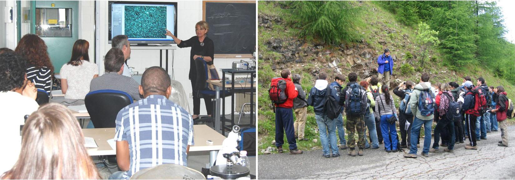 Lezioni in aula e sul campo